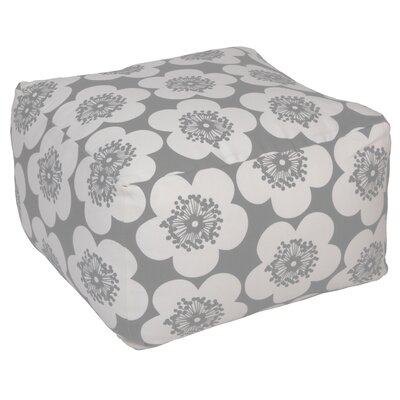 Pop Floral Pouf Upholstery: Greyhound, Insert: No Insert