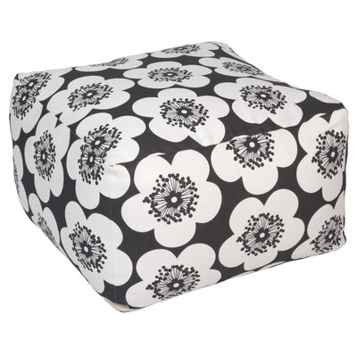 Pop Floral Pouf Upholstery: Charcoal, Insert: No Insert