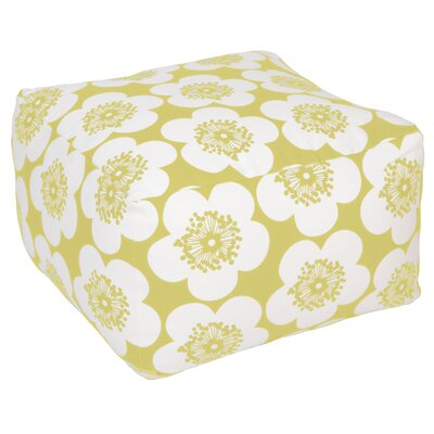 Pop Floral Pouf Ottoman Upholstery: Lemon, Insert: Kapok