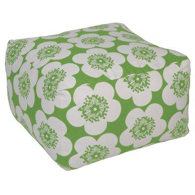 Pop Floral Pouf Ottoman Upholstery: Leaf, Insert: Kapok