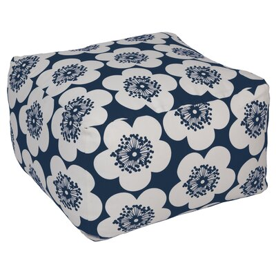 Pop Floral Pouf Upholstery: Ink, Insert: No Insert