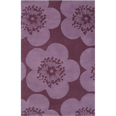 Aimee Wilder Purple Area Rug Rug Size: Rectangle 2 x 3