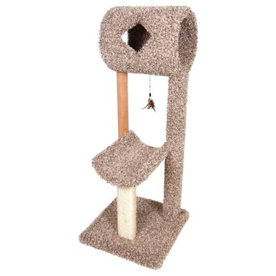 Kitty Cave and Cradle Scratch Post Size: 52.75 H x 20.75 D x 20.75 W