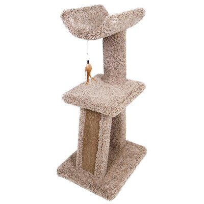 Kitty Cave and Cradle Scratch Post Size: 41.75 H x 20 D x 16 W
