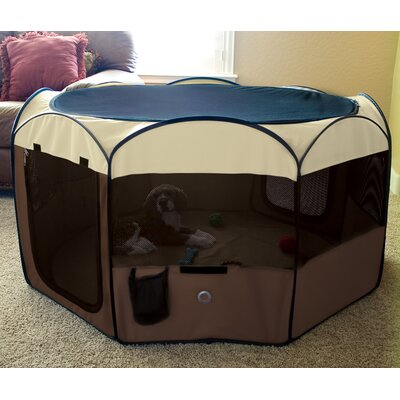 Delux Pop-Up Dog Pen Size: Small (28 H x 48 W x 48 D)