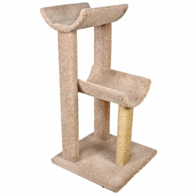 38 Small Kitty Cat Perch Color: Beige