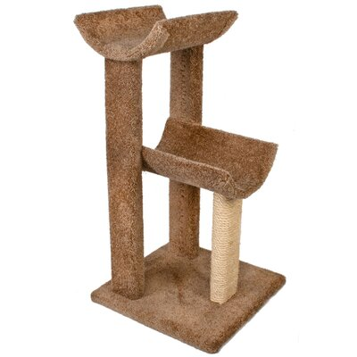38 Small Kitty Cat Perch Color: Brown