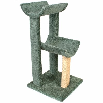 38 Small Kitty Cat Perch Color: Green