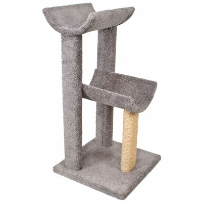 38 Small Kitty Cat Perch Color: Grey