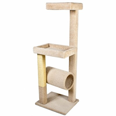 64 Kitty Crows Nest Cat Tree Color: Beige