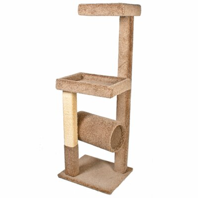 64 Kitty Crows Nest Cat Tree Color: Brown