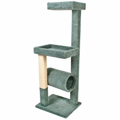 64 Kitty Crows Nest Cat Tree Color: Green