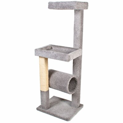 64 Kitty Crows Nest Cat Tree Color: Grey
