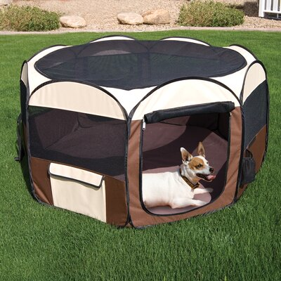 Delux Pop-Up Dog Pen Size: Large (32H x 50W x 50D)