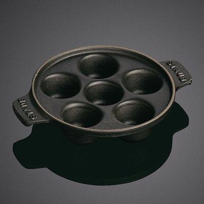 Staub Round Cast Iron Escargot Dish with 6 holes