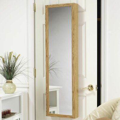Mirrotek Over the door jewelry Armoire Mirror in Oak at Sears.com