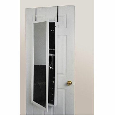 Mirrotek Mirror Jewelry Armoire-Over the Door in White at Sears.com