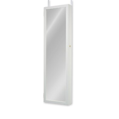 Bulgera Combination and Makeup Storage Wall Mounted or Over the Door Jewelry Armoire Finish: White
