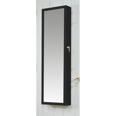 Bulgera Combination and Makeup Storage Wall Mounted or Over the Door Jewelry Armoire Finish: Cherry