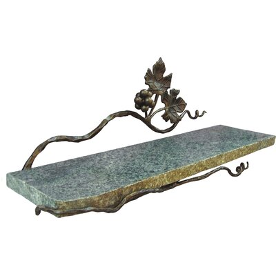 "quiescence Vineyard 20"" x 6"" Bathroom Shelf - Finish: Ambered Bronze"