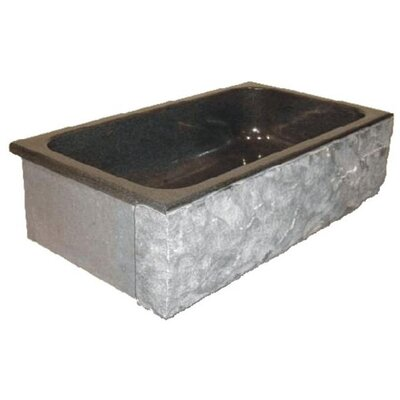 Farm Charm 33 x 19 Single Bowl Farmhouse Granite Kitchen Sink Finish: Blue Pearl