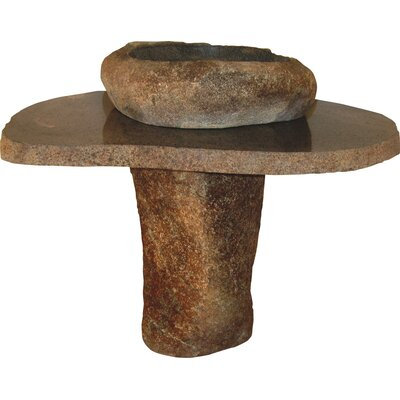 Earthen Fantasy Stone 26 Pedestal Bathroom Sink