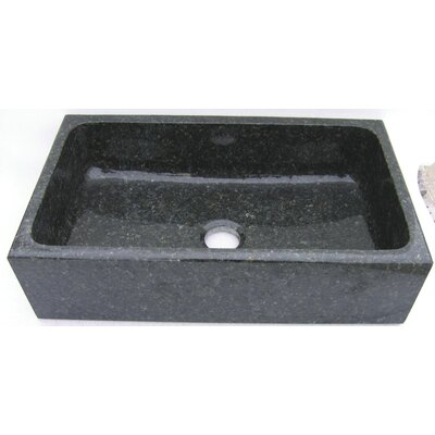 Farm Charm 33 x 19 Single Bowl Farmhouse Granite Kitchen Sink Finish: Uba Tuba