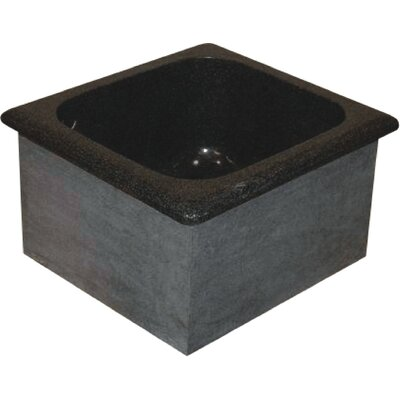 Farm Charm 16 x 15 Single Bowl Granite Bar Sink Finish: Black