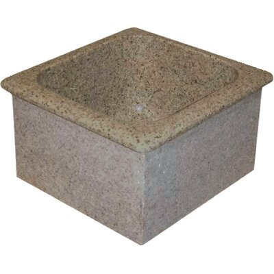Farm Charm 16 x 15 Single Bowl Granite Bar Sink Finish: Gold