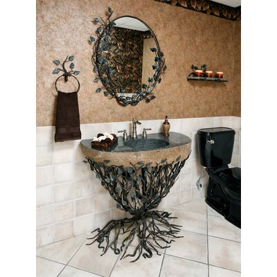 Organic Suites Embracious Aspen Forest Iron 25 Pedestal Bathroom Sink Sink Size: 25-32, Sink Finish: Enhanced Oil Rubbed Bronze