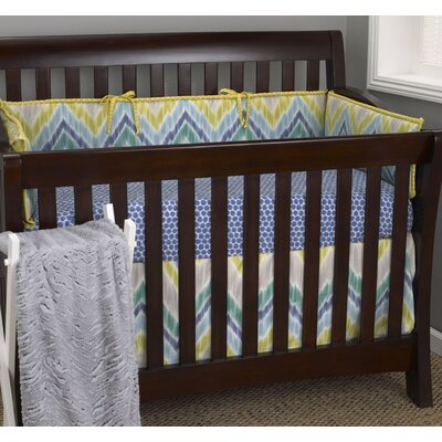 Zebra Romp 4 Piece Crib Bedding Set image