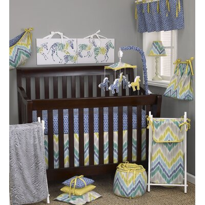 Zebra Romp 7 Piece Crib Bedding Set image