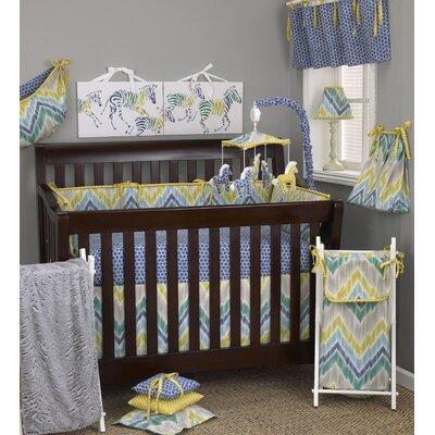 Zebra Romp 8 Piece Crib Bedding Set image