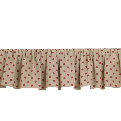 Raspberry Dot Bed Skirt Size: Twin