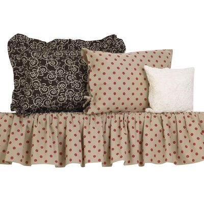 Raspberry Dot Comforter Set Size: Twin