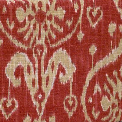 Sidekick Ikat Fabric Color: Red