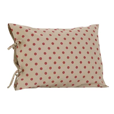 Raspberry Dot Plain Pillow Cover