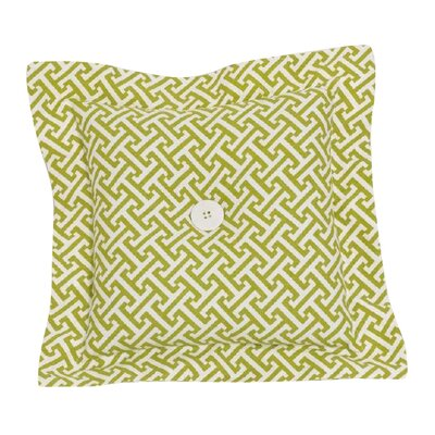 Periwinkle Lattice Throw Pillow