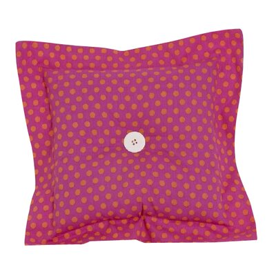Dotted Throw Pillow Color: Pink/Yellow