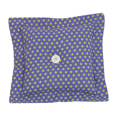 Dotted Throw Pillow Color: Green/Blue