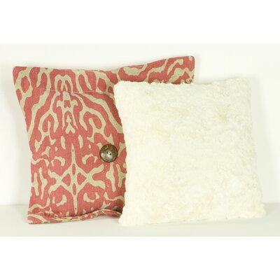 Raspberry Dot  Cotton Throw Pillow