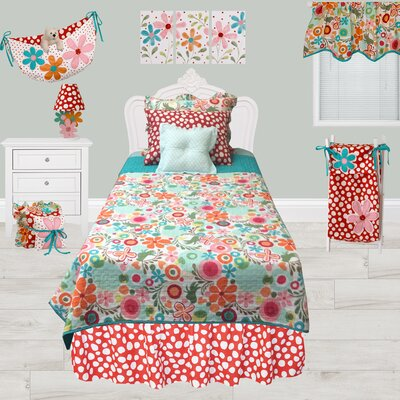 Omega Dots Dust Ruffle Bed Skirt Size: Twin