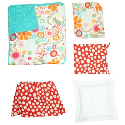 Omega 100% Cotton 2 Piece Twin Reversible Quilt Set