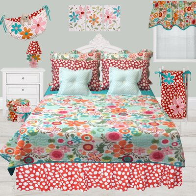 Swinney Dots Dust Ruffle Bed Skirt Size: Full