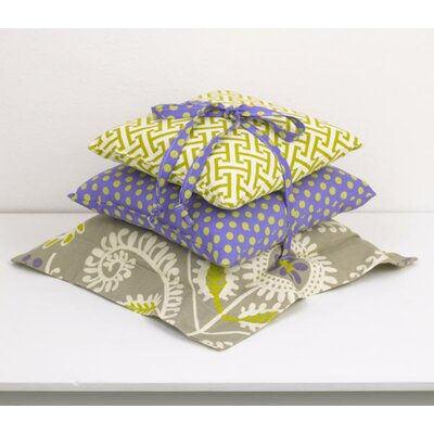 Periwinkle 3 Piece Cotton Throw Pillow Set