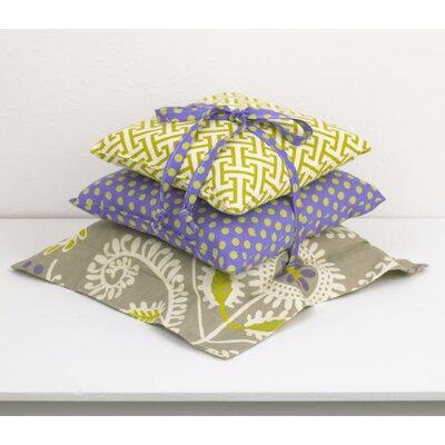 Periwinkle 3 Piece Cotton Throw Pillow Set
