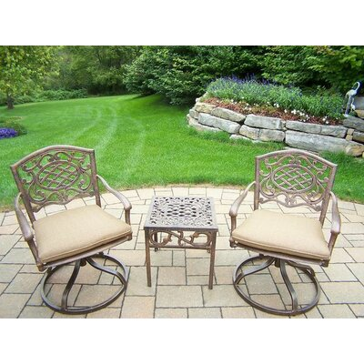 Mississippi 3 Piece Swivel Rocker Seating Group with Cushion Fabric: Sunbrella Spunpoly