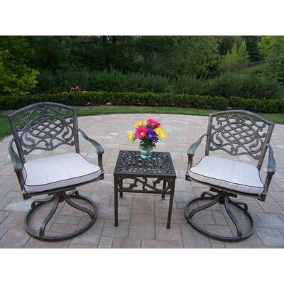 Mississippi 3 Piece Swivel Rocker Seating Group with Cushion Fabric: Oak Meal