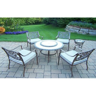 Tacoma 6 Piece Fire Pit Seating Group with Cushion Finish: Antique Bronze