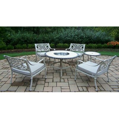 Tacoma 6 Piece Fire Pit Seating Group with Cushion Finish: Beach Sand